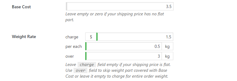 Flat and progressive shipping price